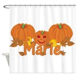 Halloween Pumpkin Marie Shower Curtain