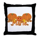 Halloween Pumpkin Marie Throw Pillow