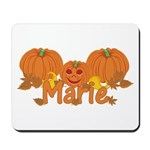 Halloween Pumpkin Marie Mousepad