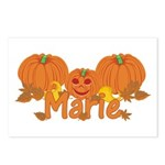 Halloween Pumpkin Marie Postcards (Package of 8)