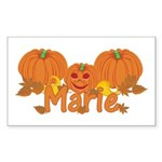Halloween Pumpkin Marie Sticker (Rectangle)