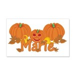 Halloween Pumpkin Marie 20x12 Wall Decal