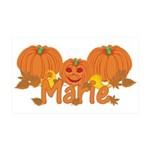 Halloween Pumpkin Marie 35x21 Wall Decal