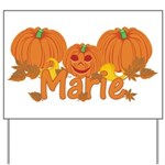 Halloween Pumpkin Marie Yard Sign