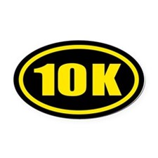 10 K Runner Oval Car Magnet