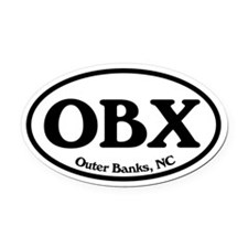 Outer Banks.OBX.Windsor.white.png Oval Car Magnet