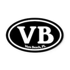 Vero Beach.VB.Windsor.black.png Oval Car Magnet