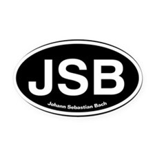 JSBlight.png Oval Car Magnet