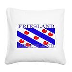 Frieslandblack.png Square Canvas Pillow