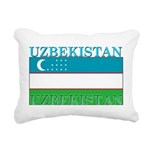 Uzbekistan.png Rectangular Canvas Pillow