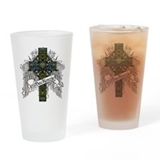 MacKenzie Tartan Cross Drinking Glass