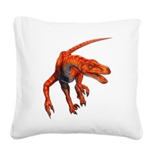 Velociraptor.png Square Canvas Pillow