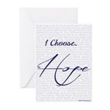 I Choose Hope Greeting Cards (Pk of 20)