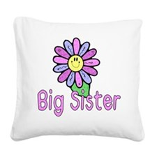 Big Sister Flower Square Canvas Pillow