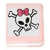Girl Skull.png baby blanket