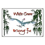 Giant Club Banner - White Crane Kung fu