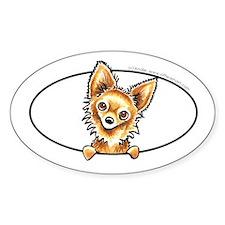 LH Chihuahua Peeking Bumper Decal