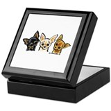 3 Smooth Chihuaha Keepsake Box