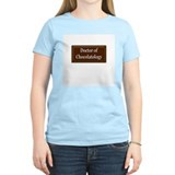 """Doctor of Chocolatology"" Women's Pink T-Shirt"
