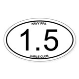 Navy PFA 1.5 Mile 3-Mile Club Decal