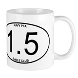 Navy PFA 1.5 Mile 3-Mile Club Mug