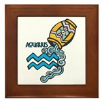 Aquarius Cool Water Design Framed Tile