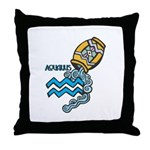 Aquarius Cool Water Design Throw Pillow
