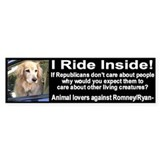 I Ride Inside 2 Bumper Sticker