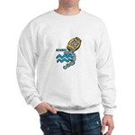 Aquarius Cool Water Design Sweatshirt