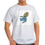 Aquarius Cool Water Design Ash Grey T-Shirt