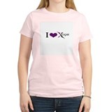 """I Love Xocai"" Women's Pink T-Shirt"