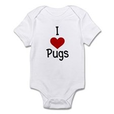 I Love Pugs Infant Creeper