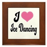 I Love Dancing Framed Tile