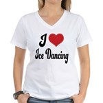 I Love Dancing Women's V-Neck T-Shirt