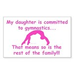 Gymnastics Sticker - Mom