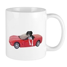 Dog Red Car Mug