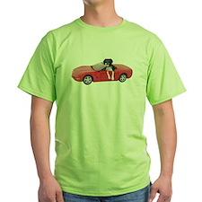 Dog Red Car T-Shirt