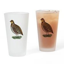 Bobwhite Quail Hen Drinking Glass