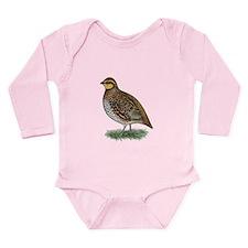Bobwhite Quail Hen Long Sleeve Infant Bodysuit