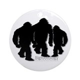 Bigfoot Family Group Ornament (Round)