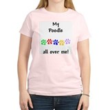 Poodle Walks Women's Pink T-Shirt