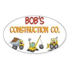 Bob's Construction Tractors Rectangle Decal