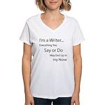 In My Novel Women's V-Neck T-Shirt