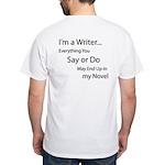 In my Novel White T-Shirt