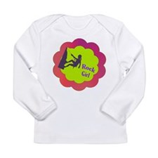 Rock Girl rock climber design Long Sleeve Infant T