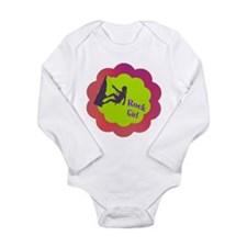 Rock Girl rock climber design Long Sleeve Infant B