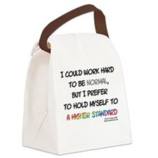 A Higher Standard Canvas Lunch Bag