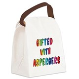 Gifted with Aspergers Canvas Lunch Bag