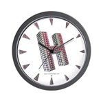 Glamor Brooch H Wall Clock