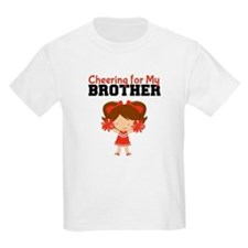Cheering for My Brother Kids T-Shirt